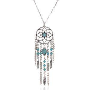 Jewelry - Bohemian Silver Dreamcatcher Beaded Necklace